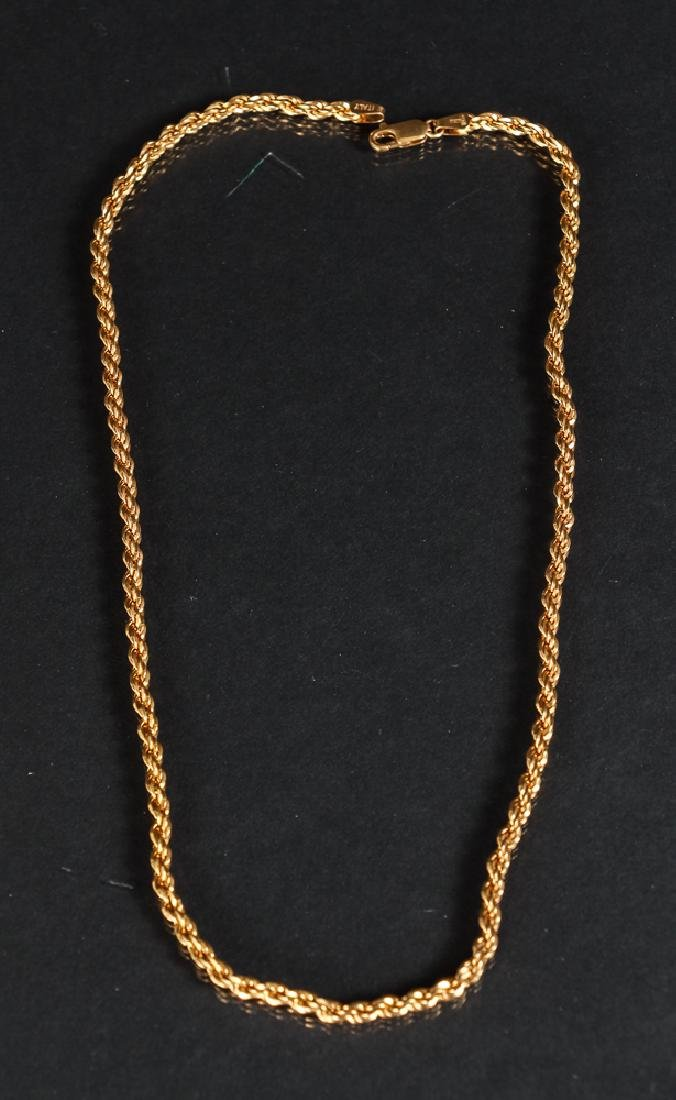 Two Gold Chain Necklaces - 2