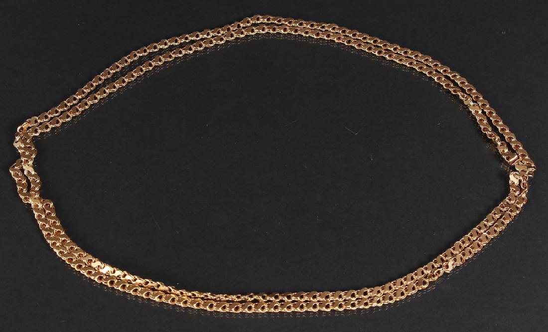 14 K Gold Double Strand Link Chain