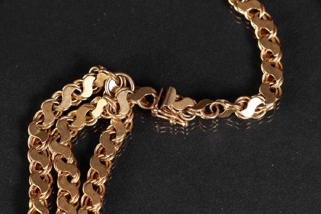 14 K Gold Double Strand Link Chain - 3