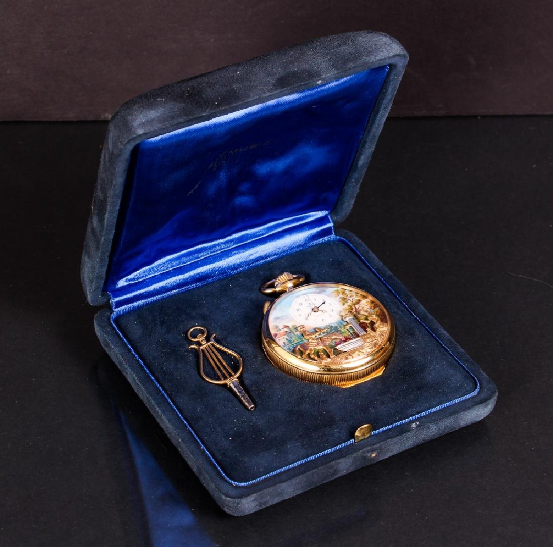 Reuge Automaton Musical Pocket Watch