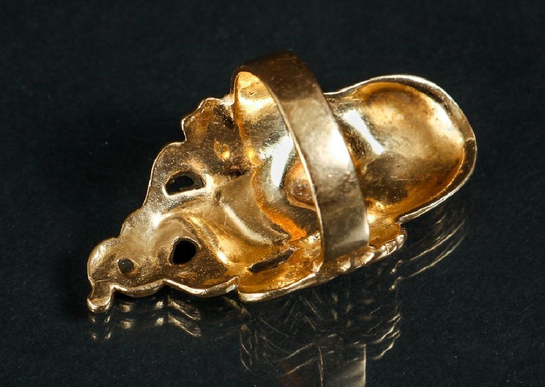 Art Nouveau Inspired 14 K Gold Ring - 2
