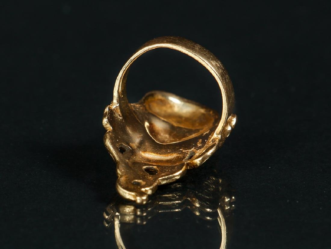 Art Nouveau Inspired 14 K Gold Ring - 4