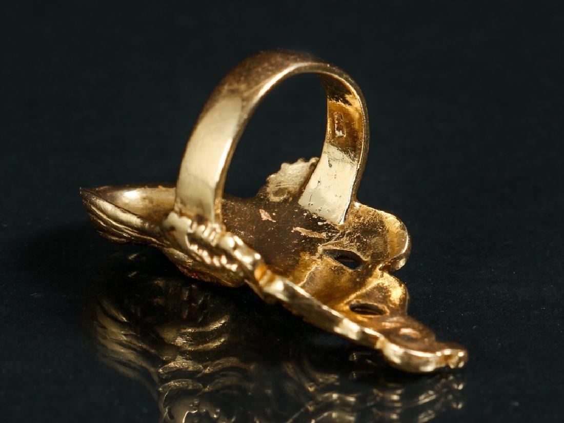 Art Nouveau Inspired 14 K Gold Ring - 5