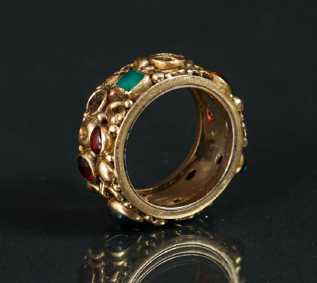 14 K Gold Ring Set with Various Gemstones
