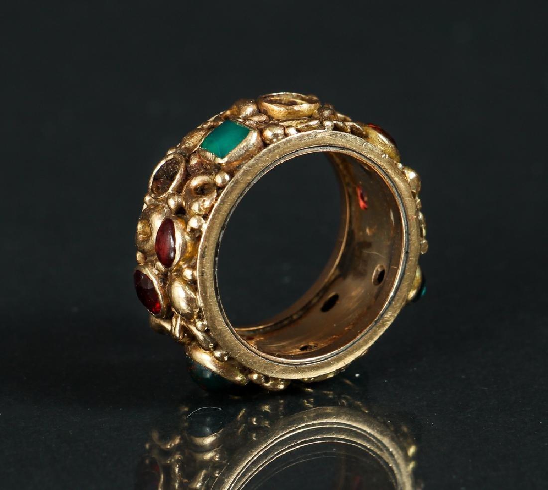 14 K Gold Ring Set with Various Gemstones