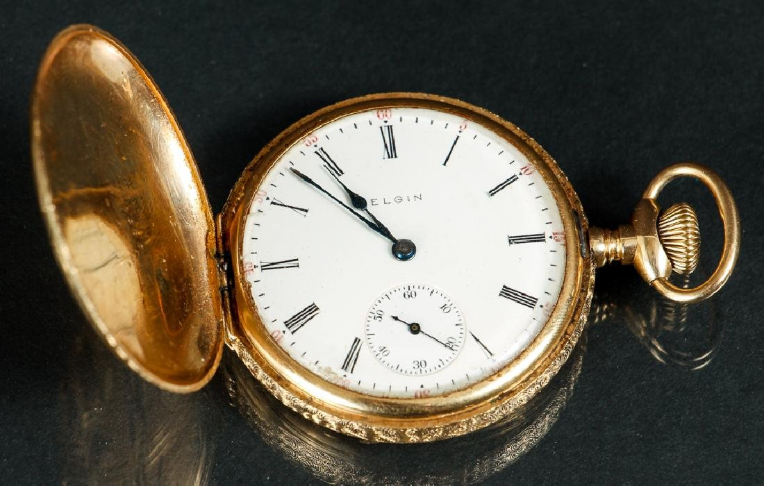 14 K Gold Elgin Hunter's Case Pocket Watch