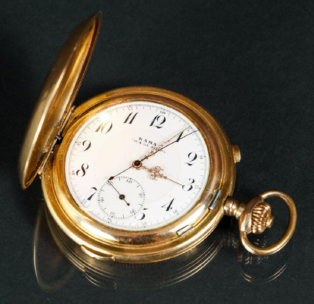 KAMA Pocket Watch with Stop Watch Feature