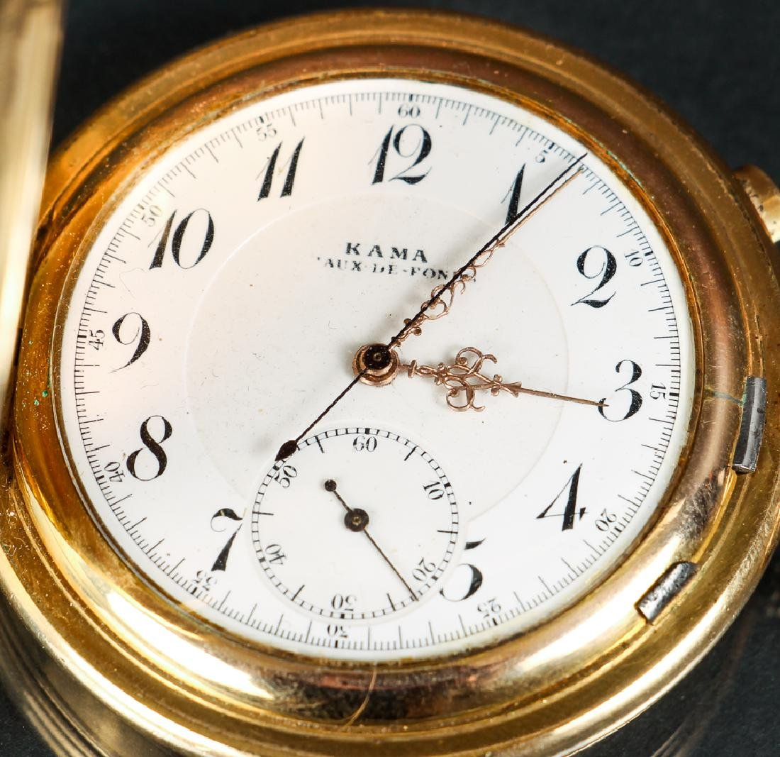 KAMA Pocket Watch with Stop Watch Feature - 4