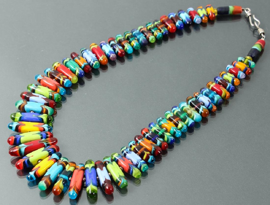 Glass Bead Necklace by Sage and Tom Holland
