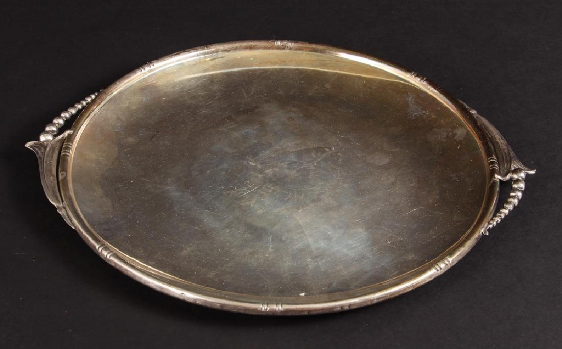 Georg Jensen Style Woodside Sterling Tray