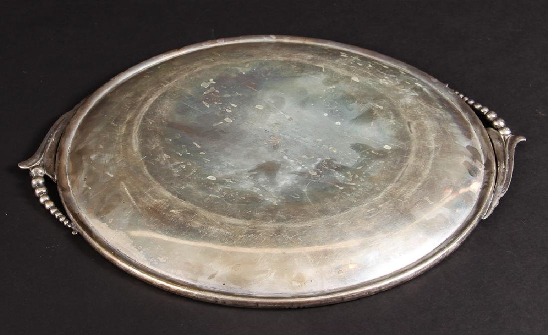 Georg Jensen Style Woodside Sterling Tray - 2