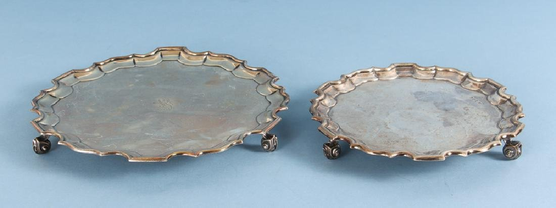 Two 19th Century Sterling Silver Salvers