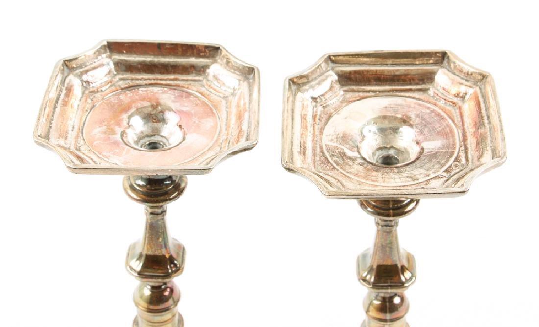 Georgian Sterling Silver Candlesticks - 3