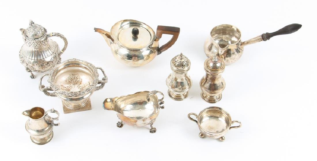 Large Group of Early English and French Silver