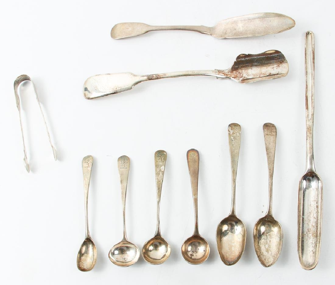 Group Sterling Flatware Mostly Georgian Period