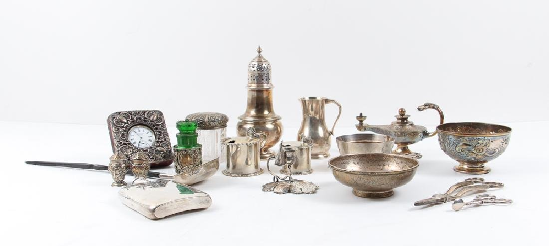 Group Victorian and Edwardian Sterling Items