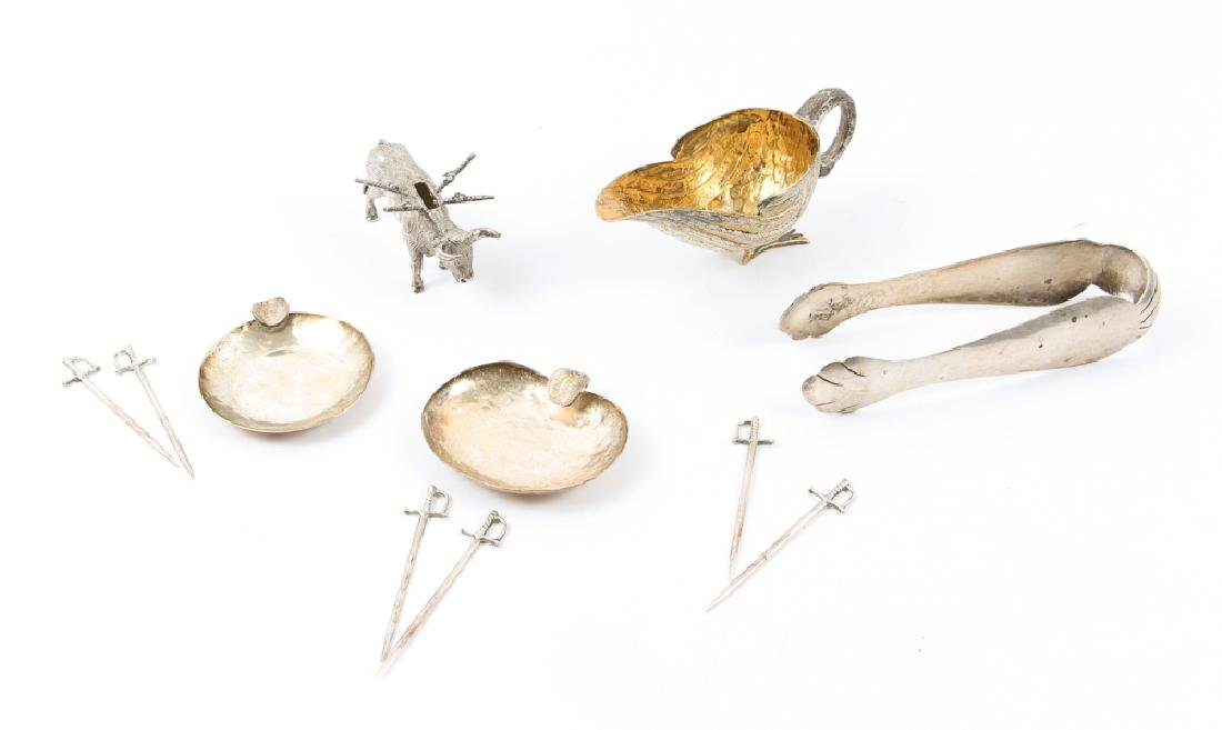 Group of Mexican Silver Items