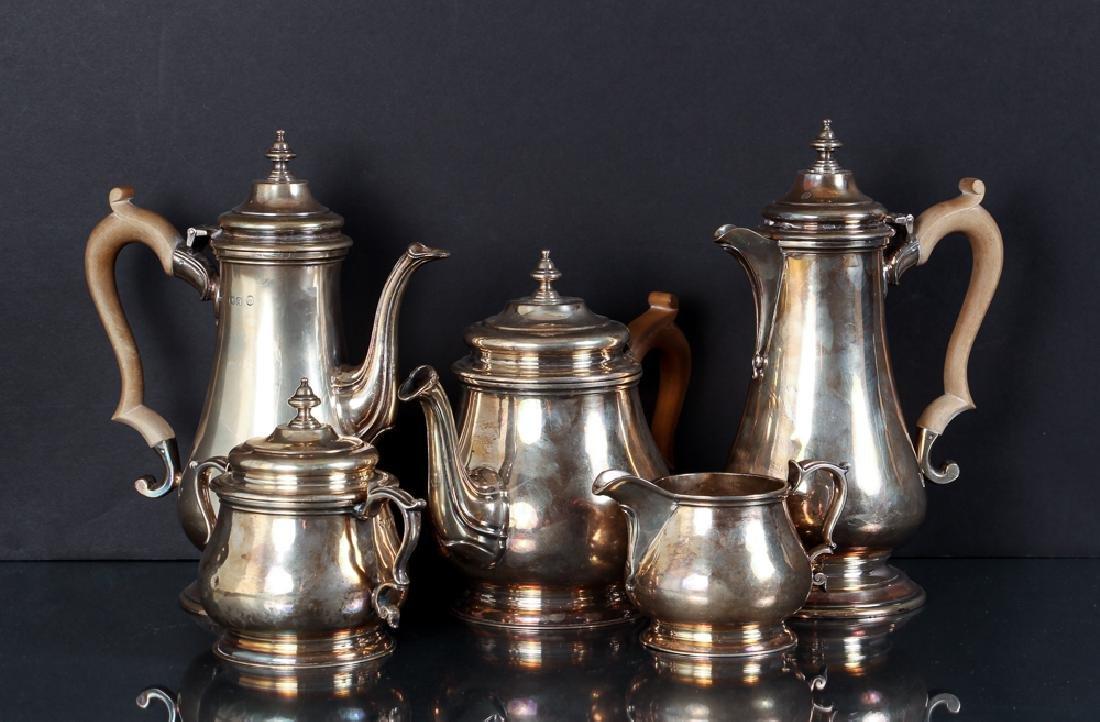 Five Piece Georgian Style Sterling Silver Tea set
