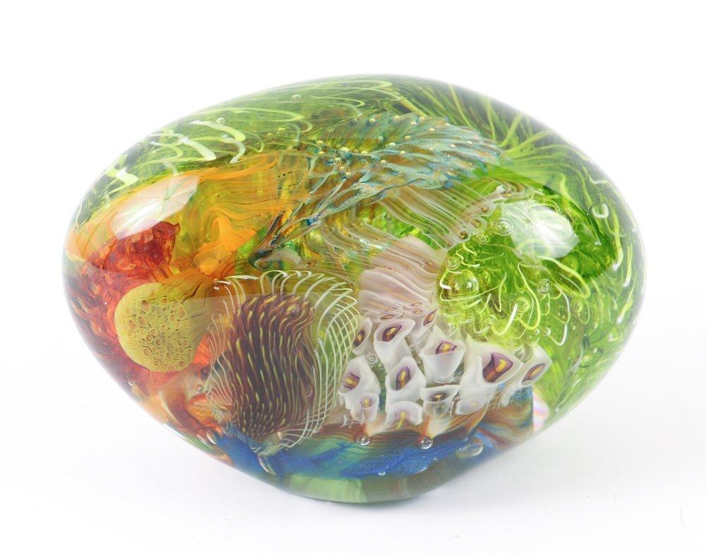 Eric Rubinstein Undersea Fantasy Glass Paperweight