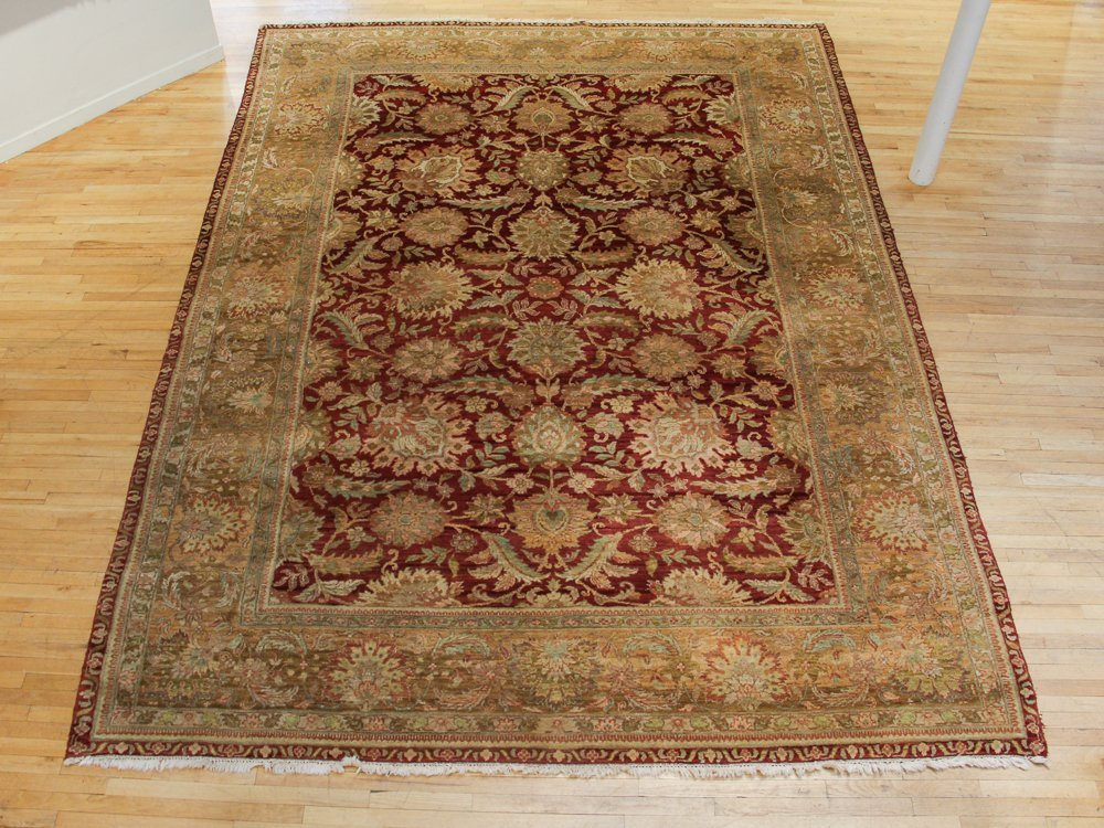 Large Wool Bohkara Influenced Oriental Carpet