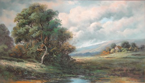 8: Tranquil Country Landscape Painting