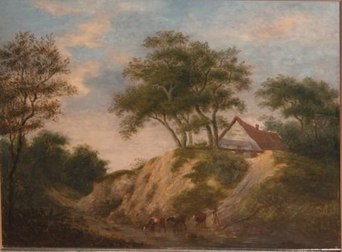 12: English School Landscape with Cattle and Drover