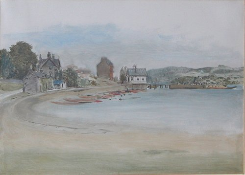 16: British School View of a Harbor and 2 other waterco