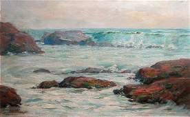 194: C. H. Sherman Coastal Seascape ptg.