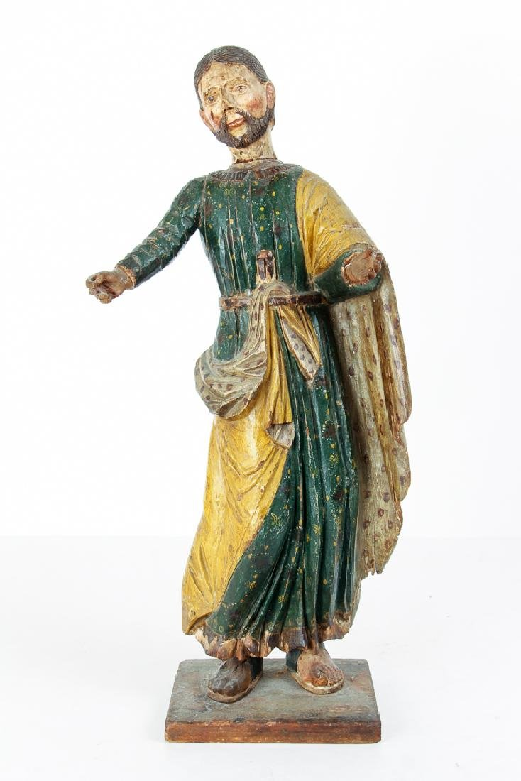Mexican Santos Figure with vintage polychrome finish