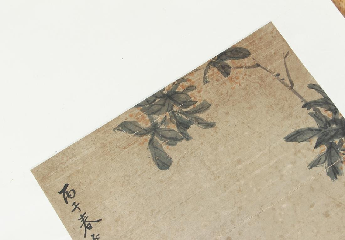 Antique Chinese Scroll with Rabbits - 5