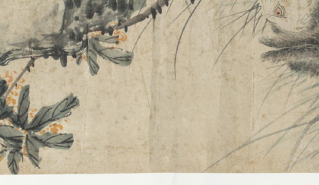 Antique Chinese Scroll with Rabbits - 6