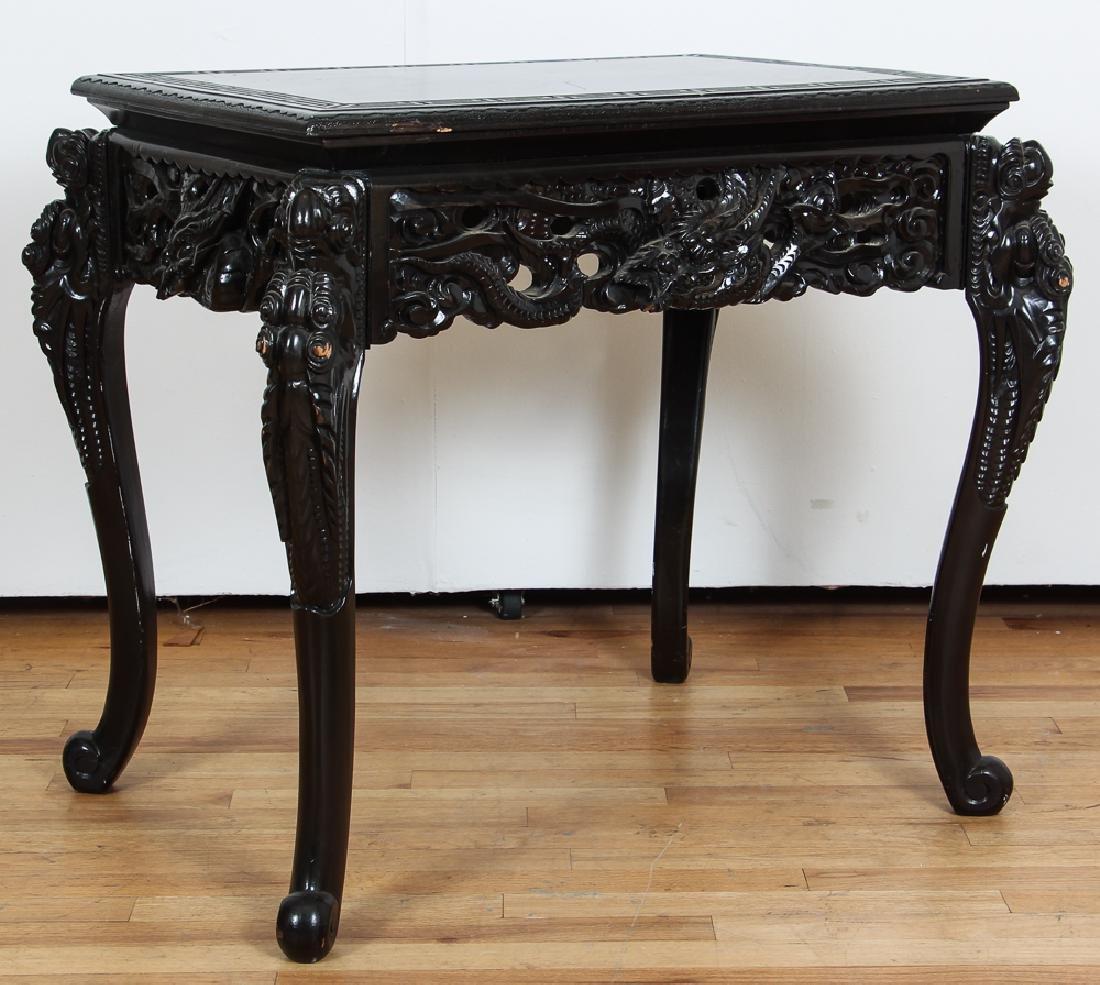 Elaborately Carved Antique Japanese Desk