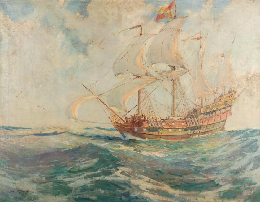 John Prentiss Benson Marine Genre Oil Painting 1923