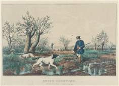 2  Currier and Ives 1852 Chromolithographs Snipe and