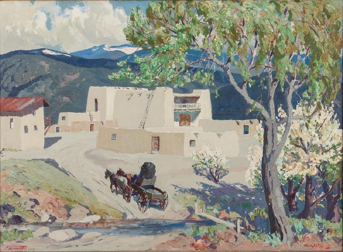 Fremont Ellis painting El Rancho de San Sebastian,