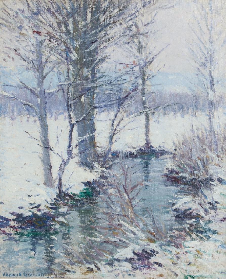 Edmund Greacen Winter Landscape ptg