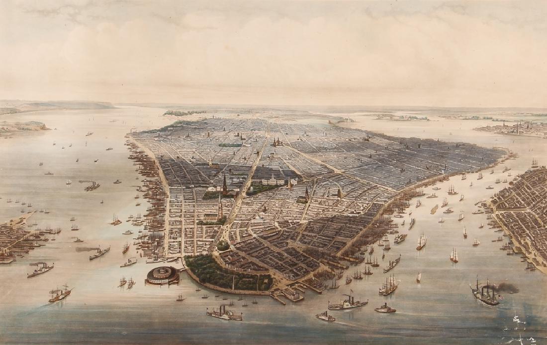 New-York after J. H. Kummer and Dopler 1851 Engraving