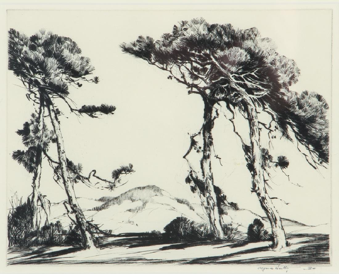 Alfred Hutty Loblolly Pines 1939 Etching