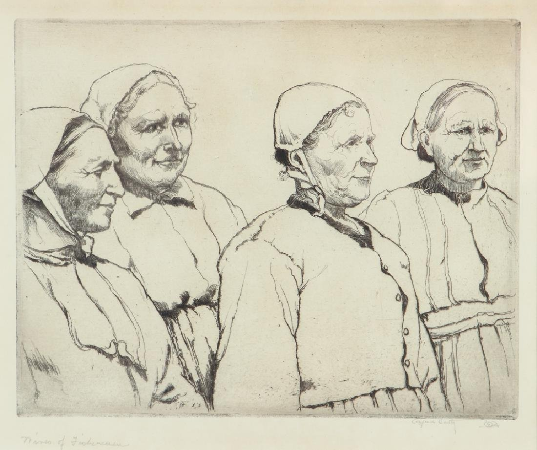 Alfred Hutty Wives of Fishermen 1927 Etching