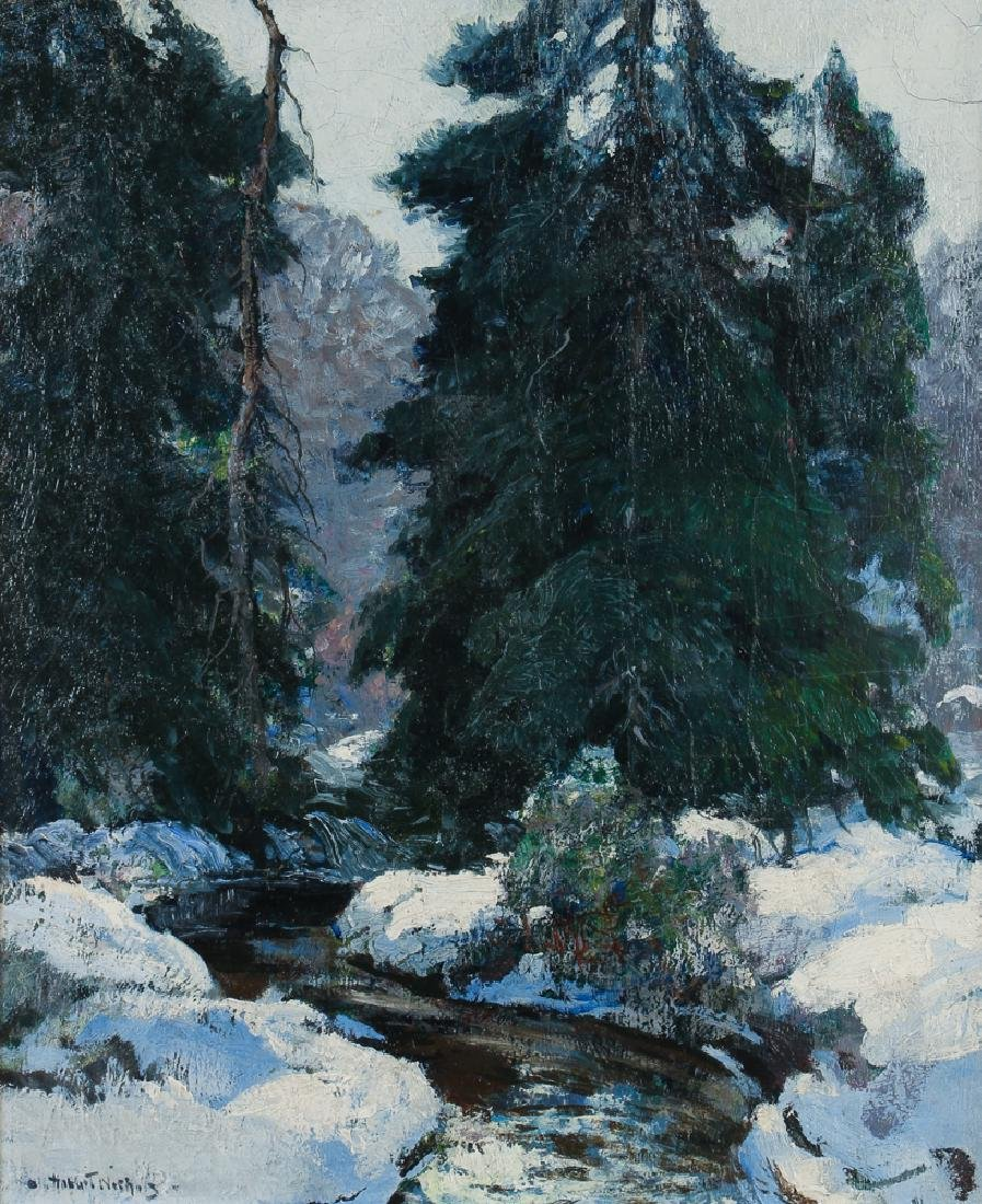 Henry Hobart Nicholas painting Winter Landscape