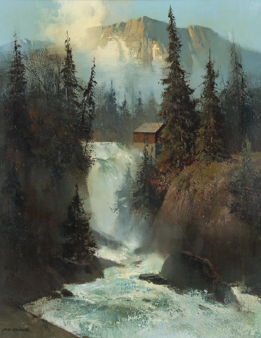 Tom Nicholas Waterfall Landscape painting