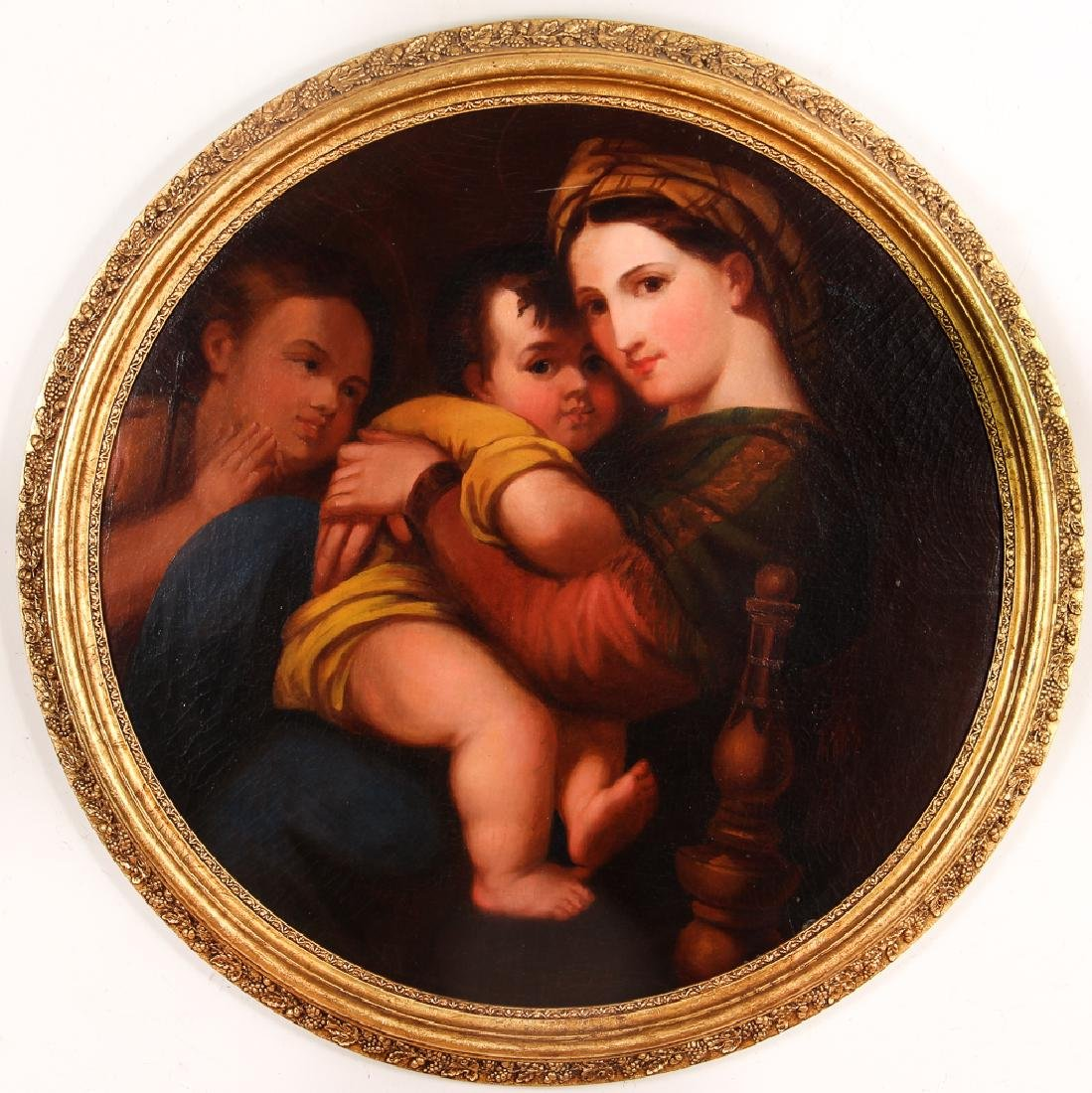 Large Madonna della Sedia After Raphael
