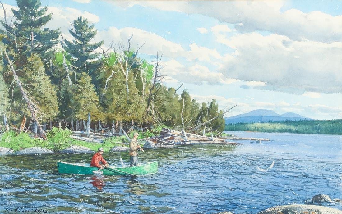 Aiden Lassell Ripley watercolor Pond in the River