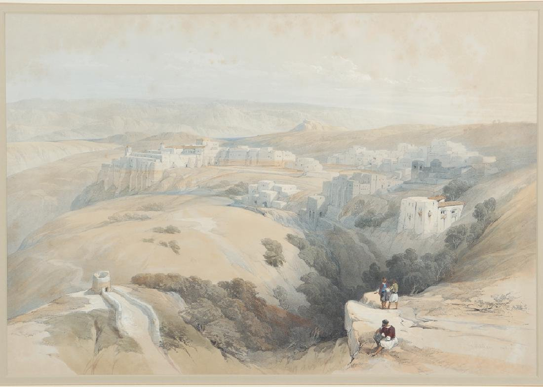 David Roberts framed lithograph Bethlehem 1839