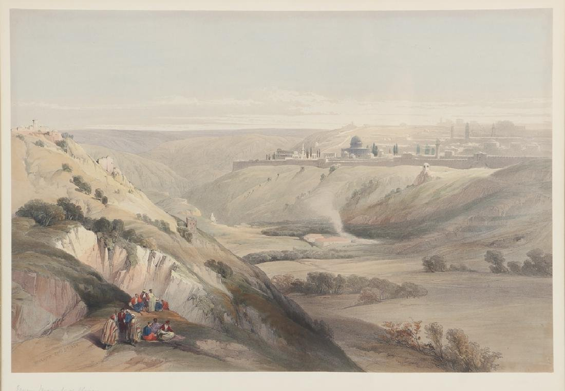 David Roberts, Jerusalem From the Mount of Olives 1839