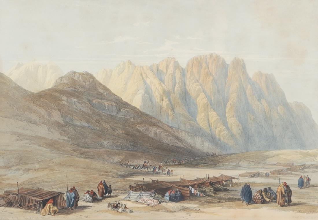 2 framed David Roberts, Mt. Sinai and Cana in Galilee