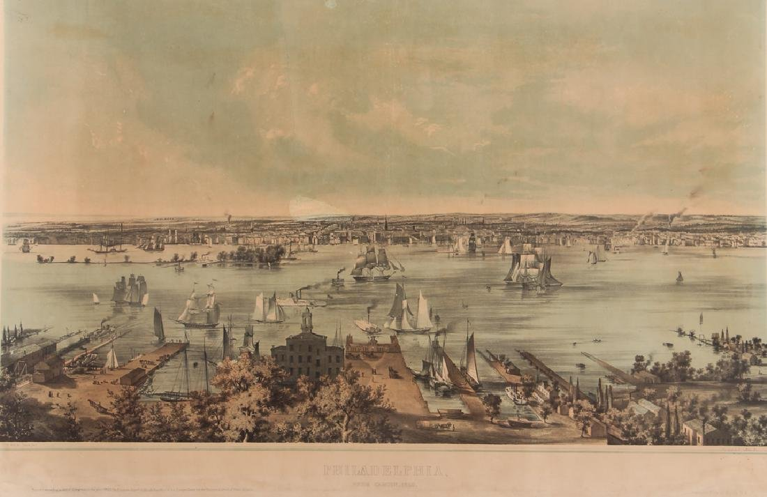 1850 Philadelphia Lithograph Smith Brothers & Co. after