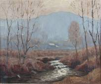 Melville Stark painting Landscape with Stream