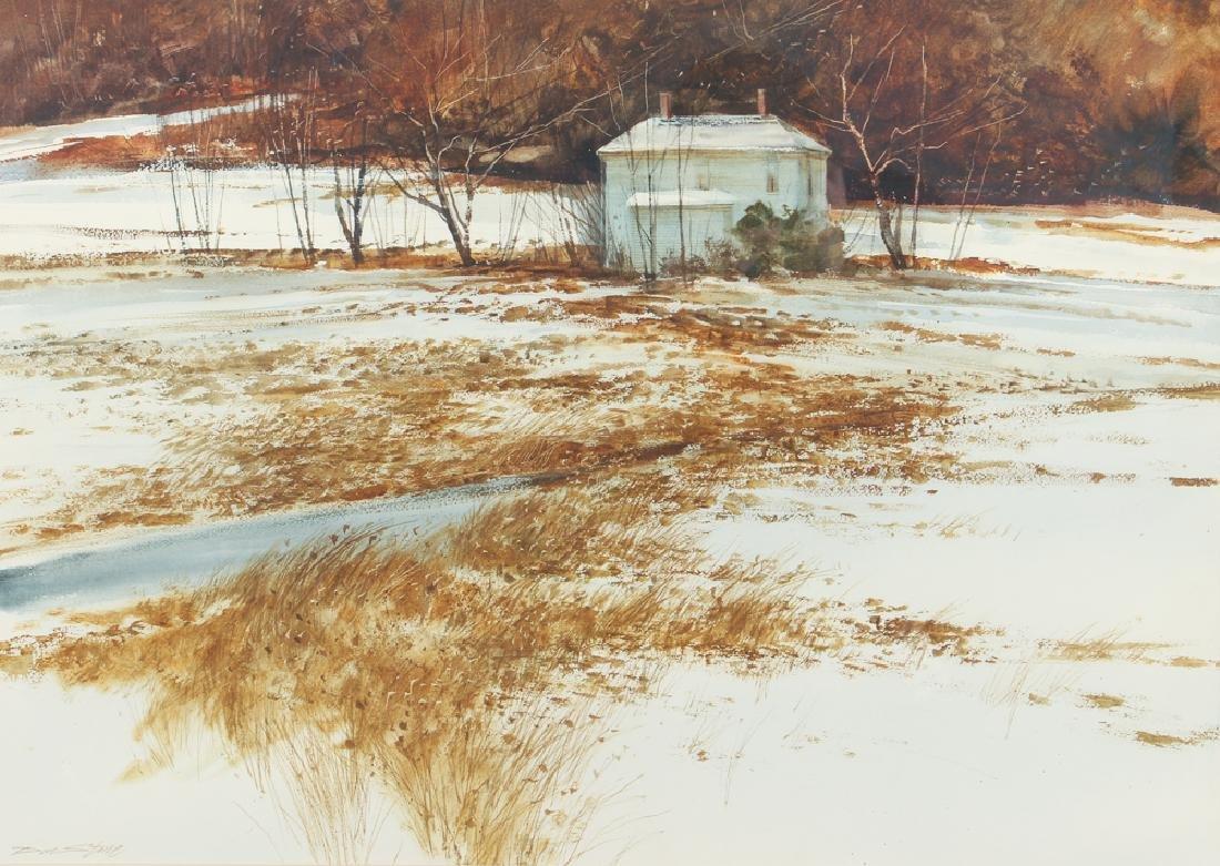 Don Stone Winter Landscape watercolor
