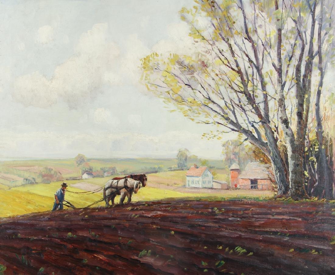 Anthony Thieme Man Plowing ptg